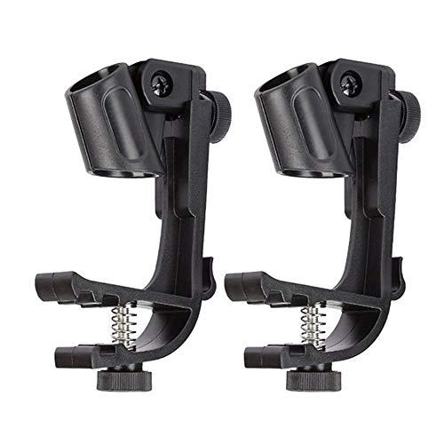 2 Stuks Klem Clip-On Drumrand Microfoon Microfoonhouder Houder Verstelbare Schokbestendige Drummicrofoon Voor Radio-Uitzendingen, Opname