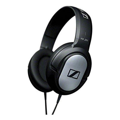 Sennheiser HD 201 Cuffie Circumaurale Dinamica Over-Ear Stereo, Modello Chiuso, Nera con rifiniture Silver, cavo 3mt.