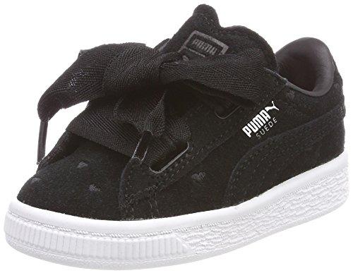 Puma Suede Heart Valentine Inf, Zapatillas Para Niñas, Negro Black Black, 22 Eu