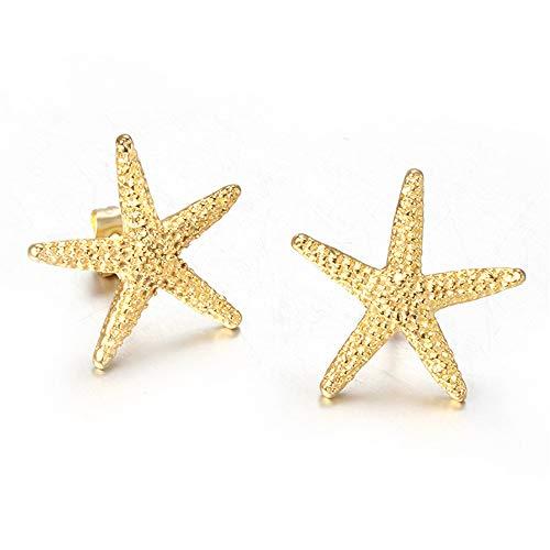 Sterling Silver Stud oorbellen voor vrouwen, Charm Gold Starfish Kraakbeen Oorbellen Voor haar