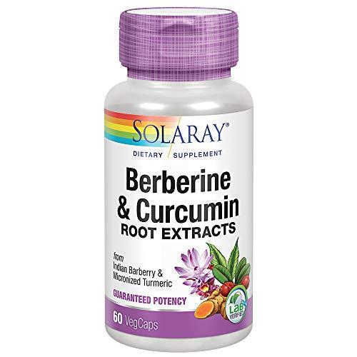 Solaray Berberine & Curcumin 600mg | Berberina & Cúrcuma | 60 VegCaps