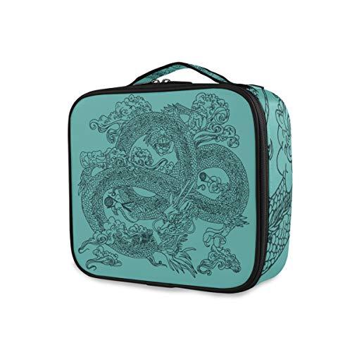 Make-uptas voor het opbergen van draagbare toilettas, reisorganizer, toilettas, draak in Chinese stijl