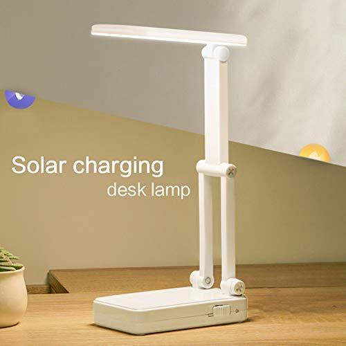 YCEOT Solar LED-vloerlamp, bureaulamp, USB, opvouwbaar, dimmer, 1200 mAh, oplaadbaar, nachtkastje, slaapkamer, studeerkamer, lamp, tafellampen