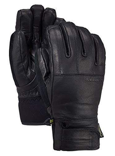 Burton Mens Gondy Gore-Tex Leather Glove, True Black New, Medium