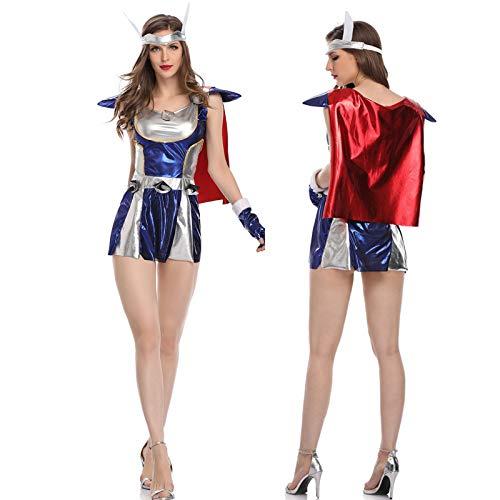 fixiyue Disfraz de Halloween Mujer cos Adulto Superman Traje Vengadores Liga Femenina Raytheon Traje de actuacin M Imagin