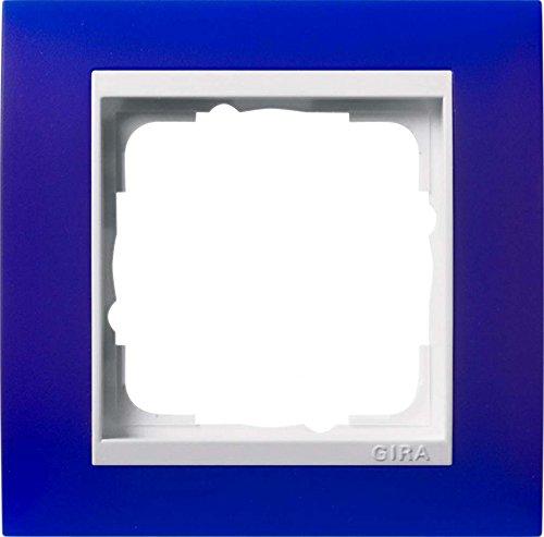 Gira 0211399 Abdeckrahmen 1-Fach für reinweiß Event opak, blau