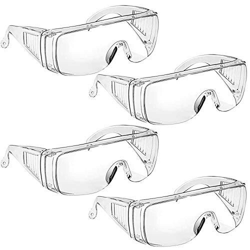 Gafas de Seguridad antivaho, antirayaduras, Gafas para Bricolaje, Laboratorio, Soldadura, rectificado, Ciclismo (4 Piezas)