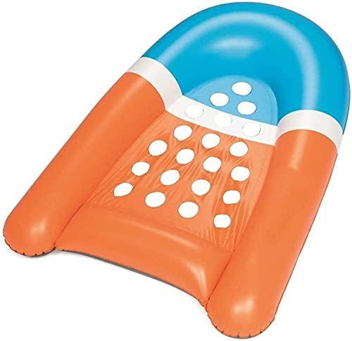 WSJTT Cama de aire flotante de la fila Piscina inflable, tumbonas inflables de la piscina de 165x120 cm, piscina inflable del partido de la playa del verano y niños adultos impetuosos
