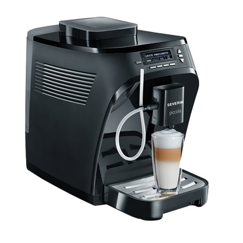 Severin KV 8055 Kaffeevollautomat Piccola Classica (Cappuccinatore) schwarz matt / glänzend