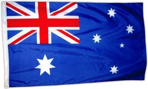 Australian Flag Souvenir! /Souvenir! / Speicher! / Memoria! About 150 cm by 90 cm / 5' x 3' Polyester for Celebrating Australian Heritage! / Drapeau! / Flagge! / Bandiera! / Bandera!