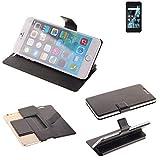 K-S-Trade® Schutz Hülle Für Archos Sense 47X Schutzhülle Flip Cover Handy Wallet Case Slim Handyhülle Bookstyle Schwarz
