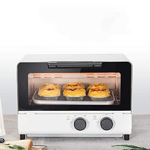 Horno de sobremesa de 12L, horno de pizza para pan casero multifuncional totalmente automático, inteligente, diseño simple y versátil, fácil de usar, selección de temporización de 60 minutos, para vi