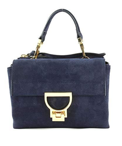 Coccinelle Arlettis Suede Top Handle Bag Bleu