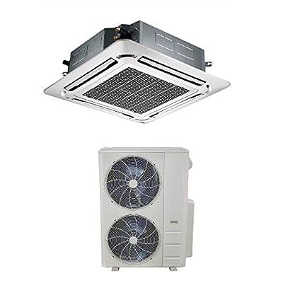 48000 BTU 16kW Super Slim DC Inverter Round Flow Ceiling Cassette Air Conditioner - 4-Way Round Flow Air Conditioning Unit with Heat Pump