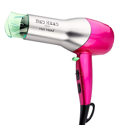 Bed Head Hot Head 875W Hair Dryer for Massive Shine, Pink