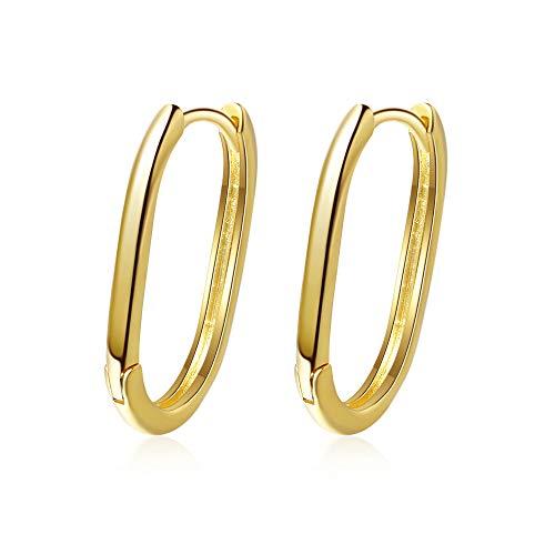 Pendientes de plata de ley 925 para mujer, pendientes geométricos de oro para hombre, joyería de moda de Corea