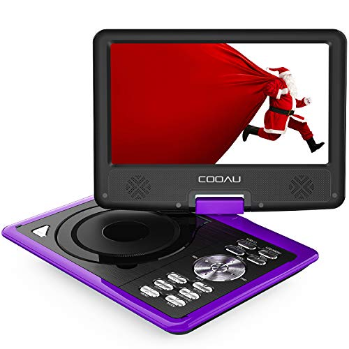 COOAU Portable DVD Player 11.5' with Game Joystick, Swivel HD Screen, Support Multi-Format,...