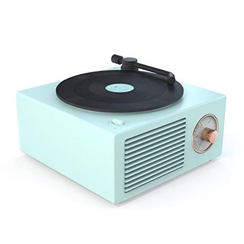YUUY Reproductor de Discos portátil Retro Altavoz Bluetooth Reproductor de Discos Bluetooth 5.0 Altavoces inalámbricos Mini Caja de música Multifuncional (Color : B)
