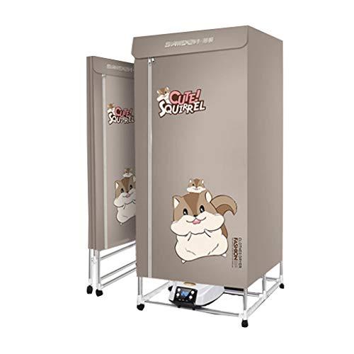 Wäschetrockner, elektrisch faltbare 2000W-Stromversorgung mit Fernbedienungstastensteuerung Einstellbare Zeit mit doppelter Edelstahlhalterung und wasserdichter...