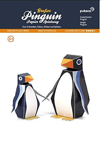 Forum Traiani Pinguin Groß - Polartiere 2 STK., Bastelbogen für Papiermodelle, Karton-Modellbau, Basteln mit Papier für Jungen und Mädchen