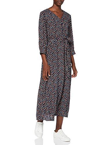 PIECES PCBRENNA 3/4 Ankle Dress BC Vestido, Azul Marino/Boquilla: FLW, XS para Mujer