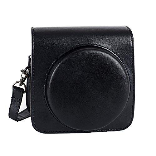 Phetium Schutztasche Kompatibel mit Instax SQ 6 Ex D Sofortbildkamera, Kameratasche mit Weichem PU Leder Material und Schulterriemen (Schwarz)