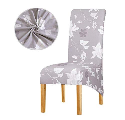 Stuhl Überwurf Stuhlhusse Stuhlabdeckung Stretch Dining Stuhlhussen Hochlehner Schutzhülle Schonbezug, Protector Sitzbezüge Blütenblattmuster