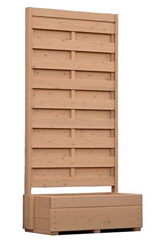 規格型 プランター付きフェンス 【フェンス+プランター】 高さ1800×幅880×奥行432mm フェンスデザイン:目隠し NL(ナチュラル)色