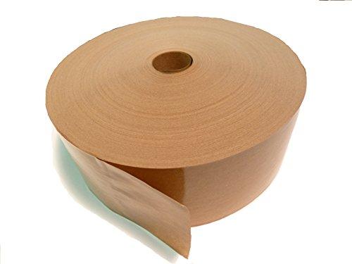 PyroPowders.de 50mm Nassklebeband, Länge 200m, 60g/m², Braun, ohne Wickelkern, Kraftpapier, Aquarellpapier [GP: 0,038€/m]