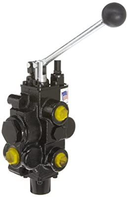 Prince RD516CA5A4B1 Directional Control Valve, Monoblock, Cast Iron, 1 Spool, 4 Ways, 3 Positions, Tandem, Spring Center, Lever Handle, 3000 psi, 30 gpm, In/Out: #12 SAE, Work #10 SAE by Prince Manufacturing