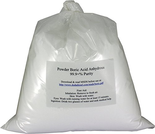 Duda Energy - borp5f borp5 Fine Powder Boric Acid H3BO3 99, 5 lb.