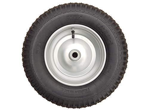 Frosal Schubkarrenrad 400 (380) mm mit Schlauch   Rad Luftrad Schubkarre   Ersatzrad 4.80/4.00-8 Stahlfelge silber   Reifen 100 mm Breite