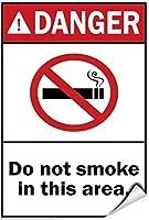 金属ティンサイン壁の装飾危険このエリアでは喫煙しないでください2573コーヒーオフィスプールヤード公共トイレ駐車場の家の壁の装飾、ヴィンテージアートポスター、家の壁の装飾の装飾