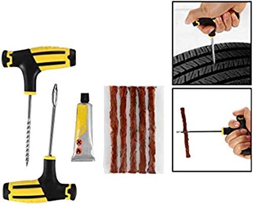 BDDMYAA Herramientas de reparación de pinchazos de neumáticos para coche y moto