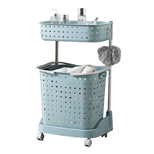 LIQIN Regal Badezimmerregal Badezimmer Waschmaschine Toilette Stehender Abstellraum Badewanne Waschtisch Bad Abstellraum (Color : Blue)