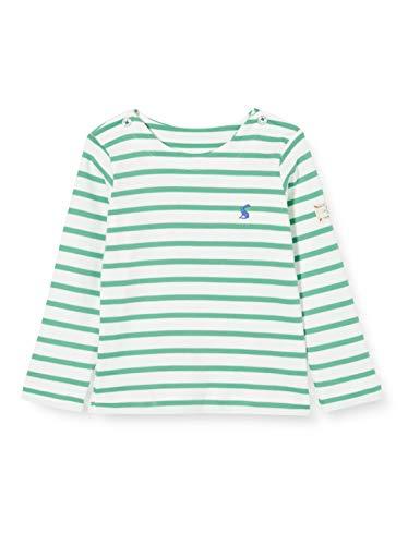 Joules Harbour Camiseta, Rayas Verdes y Blancas, 12 Meses para Bebés