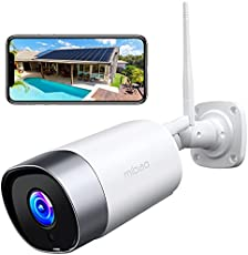 Security Cameras Outdoor, mibao 1080P WiFi Cameras for Home Security, IP66 Waterproof, with Two-Way Audio, Night Vision, Motion Detection, Compatible with iOS/Android (Use Wired Power)