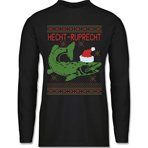 Shirtracer Weihnachten & Silvester - Hecht-Ruprecht - XXL - Schwarz hecht Ruprecht - BCTU005 - Herren Langarmshirt