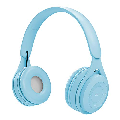 KKmoon Y08 Fone de ouvido de música auricular sem fio Bluetooth 5.0 Fones de ouvido Cartão TF MP3 Player AUX IN 3,5 mm Fone de ouvido com fio viva-voz c/microfone