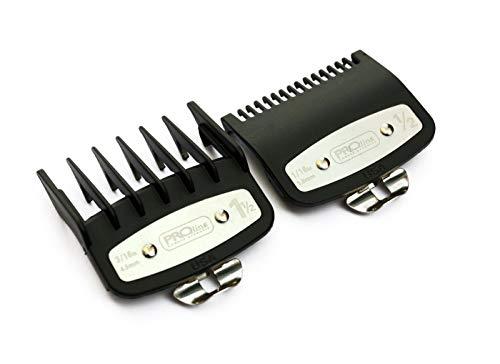 Juego de peines profesionales de fijación de línea con guía de corte de metal 1/2 1,5 mm - 1 1/2 4,5 mm Compatible con las podadoras Wahl