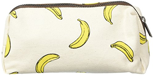 LParkin Bananas Students Super Large Capacity Canvas Pencil Case Pen Bag Pouch Stationary Case Makeup Cosmetic Bag (Bananas)