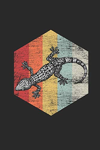 """Gecko Retro: Graph Paper Notebook / Journal (6\"""" X 9\"""" - 5 Squares per inch - 120 Pages) – Gift Idea for Animal Lover And Gecko Fans"""