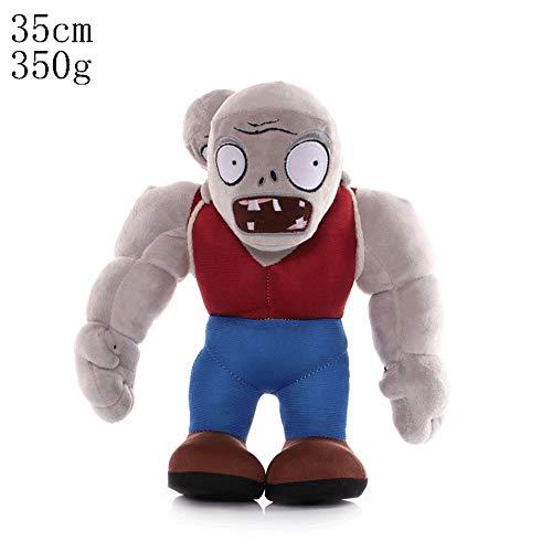 HHtoy Soft Toy Riesen muskulöser Mann Zombie-Plüsch-Puppet Plants Vs Zombies Anime Figuren Kissen gefüllte Puppe Geburtstag for Kinder Kinder, 35cm