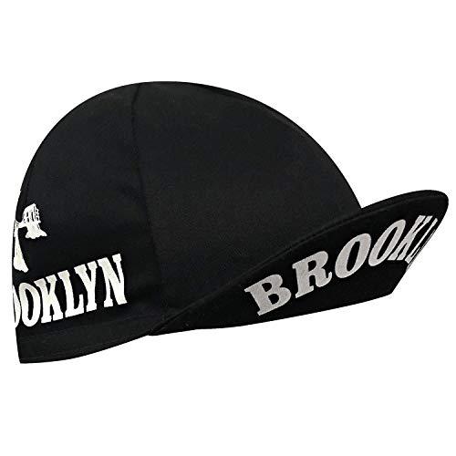 Brooklyn City Cycling Cap - Black with White Bridge Print