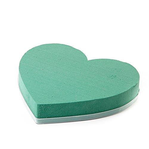 OASIS, a forma di cuore, 18 cm, colore: verde