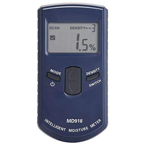 Igrometro Digitale, Akozon MD918 Tester Misuratore Rilevatore Umidità Digital LCD Elettromagnetico Induttivo Detector Intervallo 4% ~ 80% RH Precisione 0,5% Igrometro per Legno, Cartongesso, Tappeti