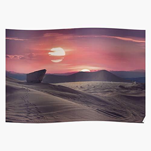 Planet Tatooine Desert Skywalker Wars Star SciFi Jedi Das eindrucksvollste und stilvollste Poster für Innendekoration, das derzeit erhältlich ist