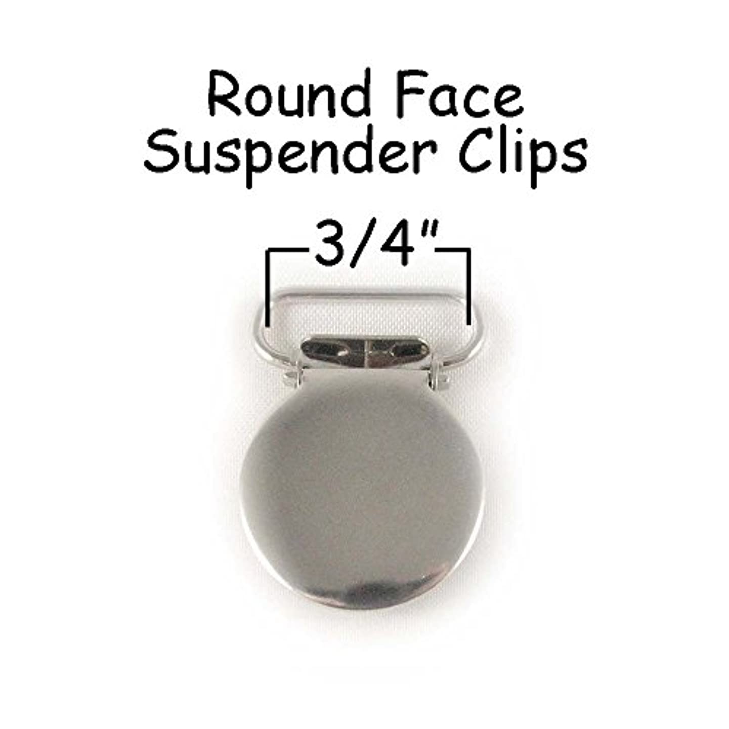 50 Round Face Metal 3/4