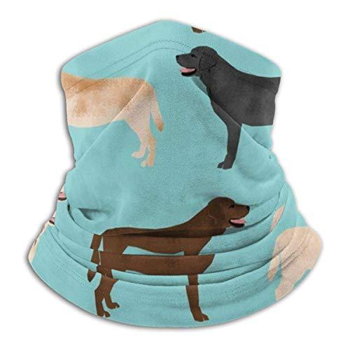 Labradors Gelbe Schokolade Schwarz Lab Pet Dog Hals Hals Gamasche Halswärmer Gesichtsdekorationen Bandana Kopfbedeckung