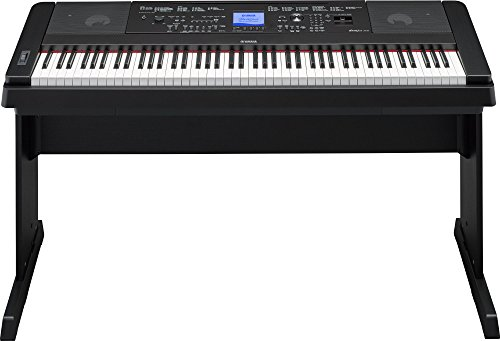 Yamaha DGX-660 Digital Piano - Black Bundle with Furniture Bench, Dust Cover, Sustain Pedal, Instructional Book, Austin Bazaar Instructional DVD, and Polishing Cloth